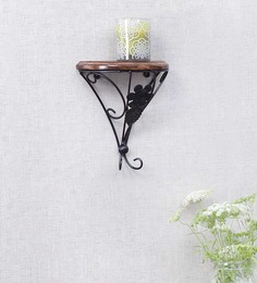 Onlineshoppee Brown Mango Wood Durable & Sturdy Wall Rack