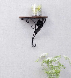 Onlineshoppee Brown Mango Wood Wall Rack