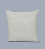 One Good Thing Blue Linen 16 x 16 Inch Gajgamini Embroidered Cushion Cover
