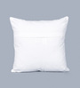 One Good Thing Yellow Cotton 16 x 16 Inch Toda Embroidery Cushion Cover