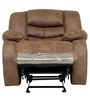 One Seater Manual Recliner with Rocker & Revolve functions in Brown Colour by Star India