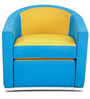 One Seater Sofa in Blue Colour by FurnitureTech