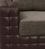 One Seater Sofa in Light & Dark Brown Colour by Home Art Creations
