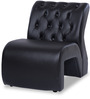 One Seater Sofa with Tufted Back in Black Colour by Durian