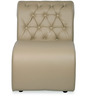 One Seater Sofa with Tufted Back in Muslin Beige Colour by Durian