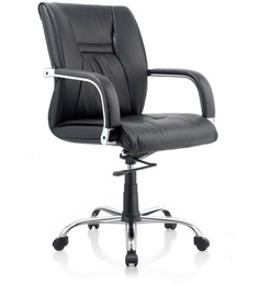 Opal Medium Back Ergonomic Chair in Black Colour by Oblique