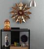 Opal Gold Yellow Metal 19.5 Inch Round Designer Trendy Wall Clock