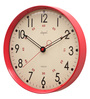 Opal Red ABS 12 Inch Round Wall Clock