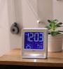 Opal White ABS 3.9 x 2.5 x 4.6 Inch Digital Table Clock