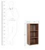 Open Book Shelf in Walnut Colour by Addy Design