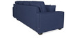 Oritz LHS Three Seater Sofa with Lounger and Throw Cushions in Teal Blue Colour by CasaCraft