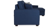 Oritz LHS Two Seater Sofa with Lounger and Throw Cushions in Teal Blue Colour by CasaCraft
