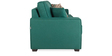 Oritz Three Seater Sofa with Throw Cushions in Jade Colour by CasaCraft