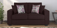 Oritz Two Seater Sofa with Cushions in Chestnut Brown Colour by CasaCraft