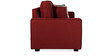 Oritz Two Seater Sofa with Throw Cushions in Burnt Sienna Colour by CasaCraft