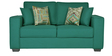 Oritz Two Seater Sofa with Cushions in Jade Colour by CasaCraft