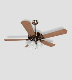 Orient Electric Subaris 1300 Mm Antique Copper Oakwood Ceiling Fan With Light & Remote