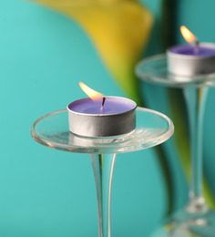 Orlando's Decor Set Of Sap Violet Tealight Candle - Set Of 10