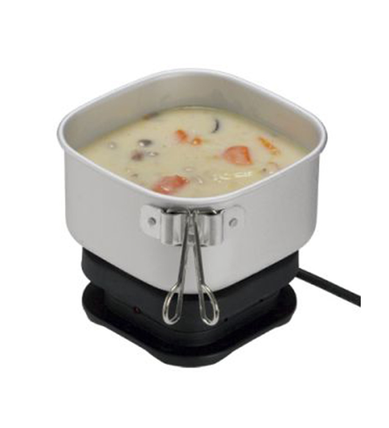 Orbit Silver and Black 7 x 5 x 5 Inch Travel Cooker  available at Pepperfry for Rs.1459