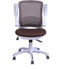 Oram Mid Back Office Chair in White Brown  colour by @home