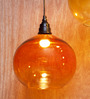 Orange Tree Brown Iron and Glass Vial Hanging Lamp