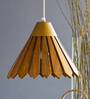 Orange Tree Brown Iron and Wood Nezet Hanging Lamp