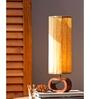 Orange Tree Brown Wax Paper Olla Table Lamp