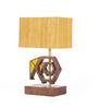 Orange Tree Mustard Mango Wood Effifant Table Lamp