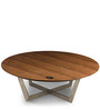 Orbit Coffee Table in Brown & White Colour by HomeHQ