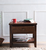 Lynnwood Solid Wood Bed Side Table in Provincial Teak Finish by Woodsworth