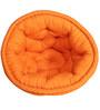 Organic Cotton Kids Lap Pouffe in Orange by Reme