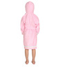 Organic Kids Hooded Bathrobe in Pink Color by Mummas Touch