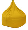 Organic XXL Size Bean Bag Covers without Beans in Yellow Colour by REME