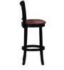 Oriel Bar Chair in Espresso Walnut Finish by Amberville