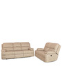 Oriel Sofa Set (3+2) Seater Recliner Set in Beige Colour by @home