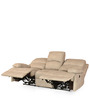 Oriel Sofa Set (3+2+1) Seater Recliner Set in Beige Colour by @home