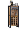 Lobash Iron And Wooden Bar Unit in Natural Finish by Bohemiana