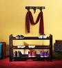 Toledo Shoe Rack in Passion Mahogany Finish by Woodsworth