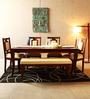 Berfeld Six Seater Dining Set in Provincial Teak Finish by Amberville