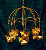 Orlando's Decor Gold Metal & Wax Butterfly 8 T Light Candle with 8 Tea Light Candles