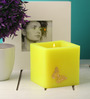 Orlando's Decor Butterfly Florescent Luminary Lemon Hurricane Candle