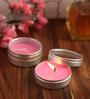 Orlando's Decor Rose Aromatic Travel Tin Candles - Set of 4