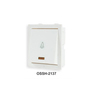 Orpat White 6A Bell Switch with Indicator Set of 2