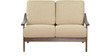 Osasco Two Seater Sofa in Brown Oak Finish by CasaCraft