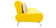 Oscar Three Seater Sofa in Yellow Colour by Furnitech