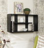 Osasco Contemporary Wall Shelf in Black by CasaCraft