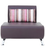 Oscar One Seater Sofa in Grape Wine Colour by Furnitech