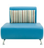 Oscar One Seater Sofa in Peacock Blue Colour by Furnitech