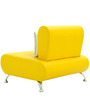 Oscar One Seater Sofa in Yellow Colour by Furnitech