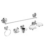 Osian Glossy Stainless Steel 5-Piece Bathroom Accessory Set